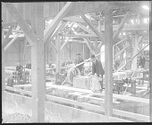 view Group of Non-Native Men and Young Girl, Inside Brick Making Factory 1879 digital asset number 1
