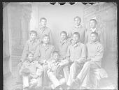 view Portrait of Group of Young Men in School Uniform 1879 digital asset number 1