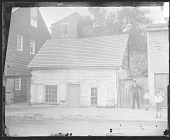 view Man and Three Boys, Outside Log Cabin; Frame House ? Nearby 1879 digital asset number 1