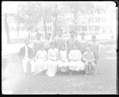 view Group of Young Men and Woman with Non-Native Indian Agent digital asset: Group of Young Men and Woman with Non-Native Indian Agent