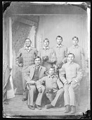 view Portrait of Group of Male Students in School Uniform 1879 digital asset number 1