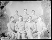 view Portrait of Group of Male Students, All in School Uniform 1879 digital asset number 1