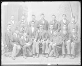 view Portrait of Group of Male Students from Pine Ridge Reservation, South Dakota 1879 digital asset number 1