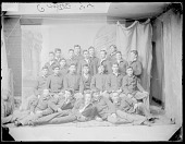 view Portrait of Group of Male Students, Workers in Print Shop, In School Uniform 1894 digital asset number 1