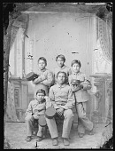 view Portrait of Five Male Students in School Uniform 1894 digital asset number 1