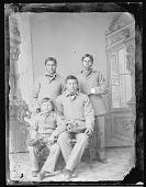 view Portrait of Four Male Students, in School Uniform 1894 digital asset number 1