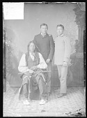 view Portrait of Young Bull Bear, Oscar Bull Bear and Richard Davis/Thunderbird during visit by Young Bull Bear to Carlisle, Pennsylvania, 1879 digital asset number 1