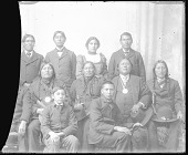 view Five American Indian Chiefs, Two with Peace Medals, One with Cane, and Group of Carlisle Students 1879 digital asset number 1