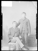 view Carlisle Students Tom Torlino and Unidentified Young Man 1879 digital asset number 1