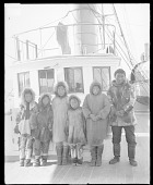 view Eskimo? Children in Native Dress on Board Ship to Carlisle Indian School ? digital asset: Eskimo? Children in Native Dress on Board Ship to Carlisle Indian School ?