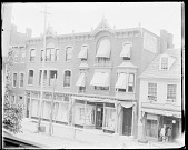 view J. W. Plank's Dry Goods Shop and S. Kronenberg's Clothing Shop, on Hanover Street 1879 digital asset number 1