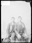 view Portrait of George Conners and Charles Wright, Students, In School Uniform 1879 digital asset number 1