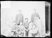 view Two Young Men and Four Boys, Students, in Carlisle School Uniform 1879 digital asset number 1