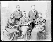 view Portrait of Marsdin, Non-Native Man, and Group of Students digital asset: Portrait of Marsdin, Non-Native Man, and Group of Students