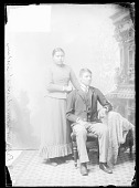 view Portrait of Calls Horse Looking and his Sister, Irene, Students, in School Uniform digital asset: Portrait of Calls Horse Looking and his Sister, Irene, Students, in School Uniform