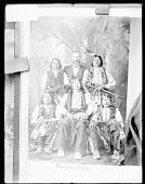 view White Man with American Indian Chiefs In Native Dress, with Pipes, Pipe Bags, and Hairpipe Breastplates n.d digital asset number 1