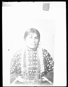 view Photo of Portrait of Rose White Thunder, Wearing Elk-Tooth Dress and Dentalium Shell Earrings n.d digital asset number 1
