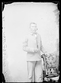 view J. E. Feather, Carlisle Student in School Uniform OCT 1888 digital asset number 1