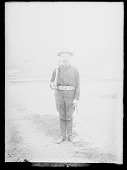 view Henry Aronson, Soldier, in Uniform and with Gun digital asset: Henry Aronson, Soldier, in Uniform and with Gun