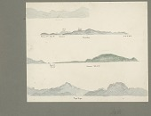 view Four Views of American Samoan Island Coastlines from Shipboard? Showing Topographical Features Drawing/Painting digital asset: Four Views of American Samoan Island Coastlines from Shipboard? Showing Topographical Features Drawing/Painting