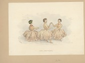 view Vatoa, Chief's Daughter, and Two Young Women in Ceremonial Costume with Ornaments, Dancing Together Painting digital asset: Vatoa, Chief's Daughter, and Two Young Women in Ceremonial Costume with Ornaments, Dancing Together Painting