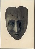 view Mask, Wood:Human: Normal Shape: Rounded Chin, Pointed: Mouth: Round Eyes:Painted Line Designs, Straight 1896 Painting digital asset number 1
