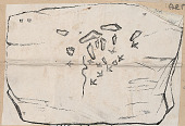 view Drawing of Pictograph Showing Human, Animal, Bird, and Snake Footprints and Tracks 1851 Drawing/Photomechanical/Pictograph digital asset number 1