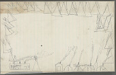 view Anonymous Plains Indian drawing of tipi camp set up adjacent to two buildings and a line of wall tents, n.d digital asset number 1