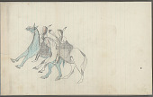 view Anonymous Plains Indian drawing of two men on horseback, n.d digital asset number 1