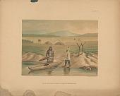 "view ""Beluga Hunter and Dwellings, Lower Kuskokvim, Alaska"" n.d. Lithograph/Photomechanical digital asset number 1"