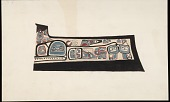 view Draftsman's Rendition of Painted Prow of Dugout Canoe with Bear and Abstract Motifs Painting digital asset: Draftsman's Rendition of Painted Prow of Dugout Canoe with Bear and Abstract Motifs Painting