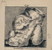 view Rock Carved with Figure, Near Orongo, Easter Island n.d. Drawing digital asset number 1