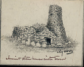 view Ruins of Stone House with Tower, Easter Island n.d. Drawing digital asset number 1