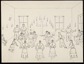 view Shaker Dance at Quileute, Washington Drawing digital asset: Shaker Dance at Quileute, Washington Drawing