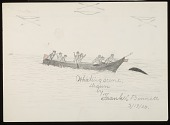 view Quileute Whaling Scene Drawing digital asset: Quileute Whaling Scene Drawing