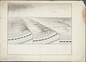 view Geological Sketch Showing Surface Topography and Underlying Rock Types Drawing digital asset: Geological Sketch Showing Surface Topography and Underlying Rock Types Drawing