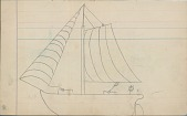 view Anonymous drawing of sailing ship digital asset: Anonymous drawing of sailing ship