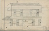 view Anonymous drawing of frame house digital asset: Anonymous drawing of frame house