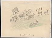 view Reindeer Farm Drawing digital asset: Reindeer Farm Drawing