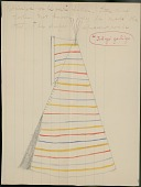 view George Miller drawing of Little Chief's father's tipi painted with stripes, 1889 digital asset number 1