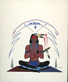 view Seated Indian with Pipe n.d. Painting digital asset number 1