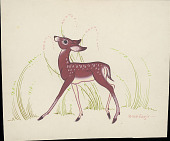view Brown Spotted Deer n.d. Painting digital asset number 1