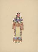 view Indian Woman Wearing Buckskin Clothing n.d. Painting digital asset number 1