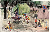view Pow-Wow Camps n.d. Painting digital asset number 1