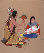 view Peyote Healing Ceremony n.d. Painting digital asset number 1