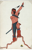 view Navaho Hunter 1941 Painting digital asset number 1