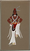 view Indian Dancer n.d. Silkscreen digital asset number 1