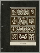 view Mexican Indian Designs from Textile and Pottery Sources Print digital asset: Mexican Indian Designs from Textile and Pottery Sources Print