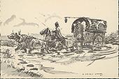 view Uruguayan Cart Drawn by Horses 1945 Photomechanical digital asset number 1