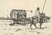 view Uruguayan Cart Drawn by Cattle 1945 Photomechanical digital asset number 1